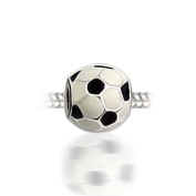 Bling Jewellery Soccer 925 Sterling Silver Sports Bead Pandora Chamilia Compatible