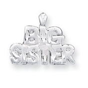 Sterling Silver Big Sister Charm - JewelryWeb