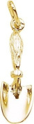 Rembrandt Charms Hand Shovel Charm, 10K Yellow Gold
