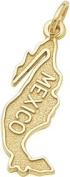 Rembrandt Charms Mexico Charm, 10K Yellow Gold