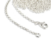 SilberDream Charms Necklace 925 Sterling Silver 39.9cm original Charm Collection Necklace for Charm Pendants FC00294-1