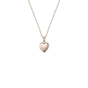 Children's 14k Small Heart Polished Locket Necklace, 33cm