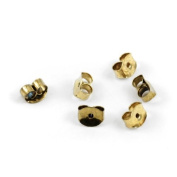 Butterfly Earring Backings- Gold
