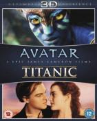 Avatar/Titanic 3D [Region B] [Blu-ray]