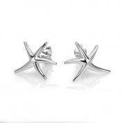 925 Sterling Silver Starfish Post Stud Earrings 18 mm Jewellery for Women, Teens - Nickel Free