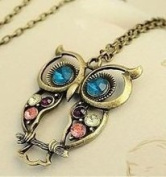 Antique Crystal Owl Necklace