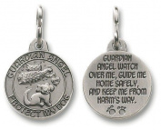 Guardian Angel Christian Catholic Protection Dog Pet Medal Charm Pendant Collar