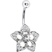 Selene Crystalline Flower Dangle Belly Button Ring