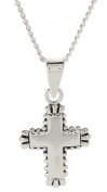Baby Blessings Silver Cross Necklace for Girls