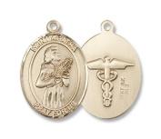 Gold Filled St. Agatha / Nurse Pendant