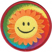 C & D Visionary Patches, Happy Face Tie Dye