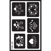 Reusable Glass Etching Stencils- Assorted
