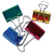 """Large Binder Clips 1-1/4"""" 4/Pkg-Assorted Colors"""
