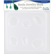Resin Jewellery Reusable Plastic Mould 15cm - 1.3cm x 18cm -Natural Stones 5 Assorted Shapes