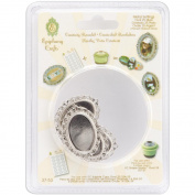 Epiphany Crafts Metal Charm Settings-Oval 25, 5/Pkg