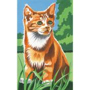 Mini Paint By Number Kit-Kitten In The Field