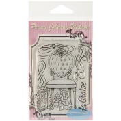 Stampavie PENNYCLR-PEN44 Stampavie Penny Johnson Clear Stamp-La Chaise 3-1-5.1cm .