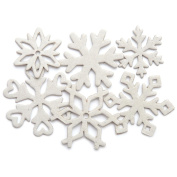 Chipboard Set 18/Pkg-Snowflakes, 9 Styles, 3.8cm To 4.8cm