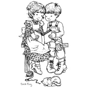 Sarah Kay Clear Stamp-Quiet Moments 8.9cm