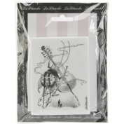 LaBlanche Silicone Stamp 7.6cm x 10cm -Playing Cello