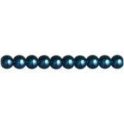 Jewellery Basics Pearl Beads 6mm 158/Pkg-Navy Round
