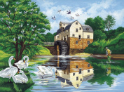 "Paint By Number Kit 30cm X16""-Watermill"