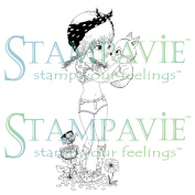 Stampavie Anne Cresci Clear Stamp-Foxy Roxy, 9.5cm