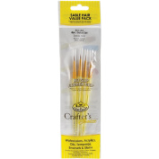 Brush Set, Sable, Round 3/0,0, Liner 5/0, 0, 4/pkg