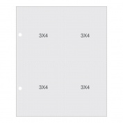 Sn@p! Pocket Pages For 15cm x 20cm Binders 10/Pkg-(4) 7.6cm x 10cm Pockets