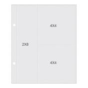 Sn@p! Pocket Pages For 15cm x 20cm Binders 10/Pkg-(1) 5.1cm x 20cm & (2) 10cm x 10cm Pockets