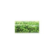 Round Seed Bead Mix 14cm Tube-Green