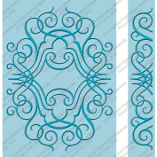 Cuttlebug 13cm x 18cm Embossing Folder/Border Set-Nathaniels' Penwork