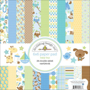 Snips & Snails Paper Pad 15cm x 15cm -24 Double-Sided Cardstock Sheets