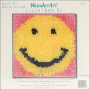 "Wonderart Latch Hook Kit 20cm X8""-Smile"