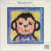 "Wonderart Latch Hook Kit 20cm X8""-Monkey"