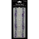 Adhesive Rhinestone/Pearl Borderlines -Purple
