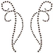 Self-Adhesive Rhinestone Flourishes-Decorative Black