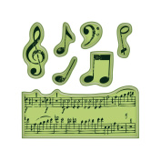 Inkadinkado I6060152 Inkadinkado Cling Mini Stamp 2.25 in. x 2.25 in. -Music Notes