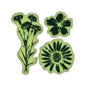 Inkadinkado I6060151 Inkadinkado Cling Mini Stamp 2.25 in. x 2.25 in. -Meadow Flowers