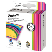 "Dodz Adhesive Dot Rolls-Medium-3/8"", 300/Pkg"