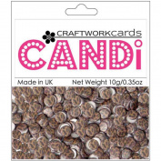 Candi Dot Printed Embellishments .1040ml-Safari - Cheetah