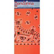 "Neon Bandannas 22""X22""-Orange Paisley"