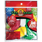 "Fat Toad Deco Latex Balloons 12"", Birthday Stars"