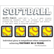 SRM Say It With Stickers Mini-Softball