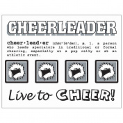 SRM Say It With Stickers Mini-Cheerleader