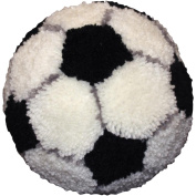 Huggables Soccer Ball Pillow Latch Hook Kit, 25cm Round