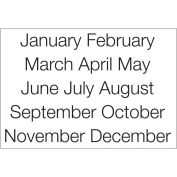 SRM Calendar Months Large Stickers-Sleek