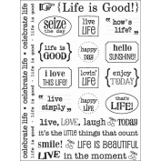 SRM Sticker Sentiments-Life Is Good