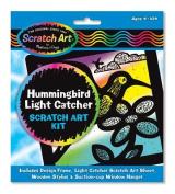 Melissa and Doug 5887 Scratch Magic Hummingbird Light Catcher Fun Kit - 3364