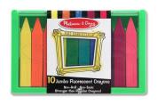 Jumbo Fluorescent Crayon Set (10 PC)